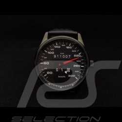 Porsche 911 300 km/h speedometer Watch black case / black dial / white numbers