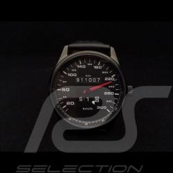 Porsche 911 300 km/h Tachometer Uhr schwarz Gehause / schwarz Wahl / weiße Zahlen
