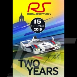 Affiche originale Selection RS 2ème anniversaire du showroom - Signé par Jürgen Barth poster plakat