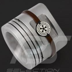 Fuchs Bracelet Cult & Passion Brown leather Metal medallion