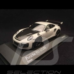 Porsche 911 type 991 GT2 RS 2018 Chalk grey / Carbon / Black rims 1/43 Minichamps 410067237