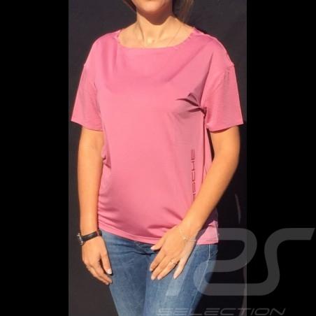 T-shirt Porsche Taycan Collection Mesh Rose framboise Porsche WAP602LTYC Raspberry pink Himbeer rosa femme