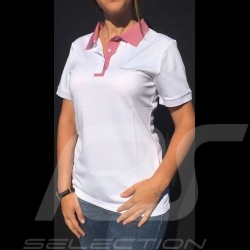 Polo Porsche Taycan Collection Mesh Blanc / Rose Porsche Design WAP604LTYC white pink weiß rosa femme women damen