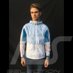 Veste coupe-vent Windbreaker Porsche Taycan Collection blanc / bleu Porsche Design WAP607LTYC unisex mixte