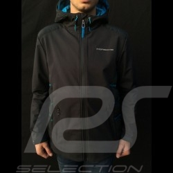 Porsche hoodie Jacket Taycan Collection Black / Blue Porsche Design WAP605LTYC- menwindbreaker