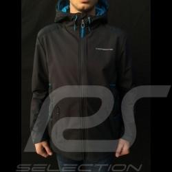 Veste Jacket Jacke Porsche à capuche hoodie Taycan Collection hoodie noir / bleu Porsche WAP605LTYC homme men herren