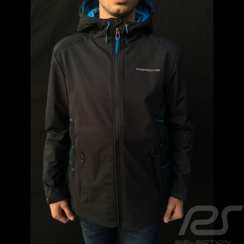 Porsche hoodie Jacket Taycan Collection Black / Blue Porsche Design WAP605LTYC- menwindbreaker