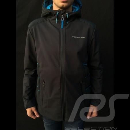 Porsche hoodie Jacket Taycan Collection Black / Blue Porsche WAP605LTYC- menwindbreaker