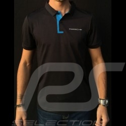 Polo Porsche Taycan Collection Mesh Noir / Bleu électrique Porsche Design WAP603LTYC Polo shirt black schwarz blue electric elek