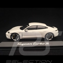 Porsche Taycan Turbo S 2019 Carrara white 1/43 Minichamps WAP0207800L