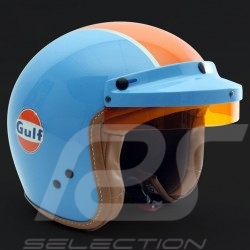 Casque Helmet Helm Gulf bleu cobalt / orange