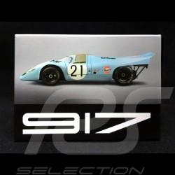 Plaque aimantée Magnet Porsche 917 Gulf n° 21 24h Le Mans 1970 MAP01553319