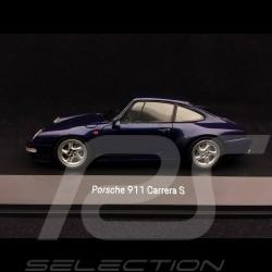 Porsche 911 type 993 Carrera S 1997 bleu zenith métallisé 1/43 Spark MAP02003717 zenith blue mettalic zenithblaue metallic