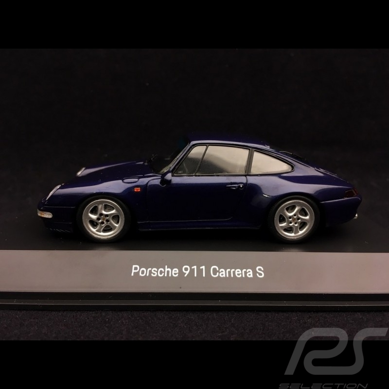Porsche 911 type 993 Carrera S 1997 zenith blue metallic 1/43 Spark MAP02003717