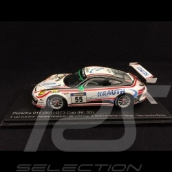 Porsche 911 typ 991 GT3 Cup n° 55 Manthey Racing Lauf VLN 2014 1/43 Spark SAM251