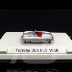 Porsche 356 N° 1 1948 gris argent métallisé 1/87 Autocraft MAP02335618 silver grey metallic silbergrau metallic