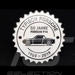 Badge de grille Porsche 914 50 ans 1969 - 2019 Blanc Porsche Design MAP04515619 grille badge grillebadge blanc weiß white