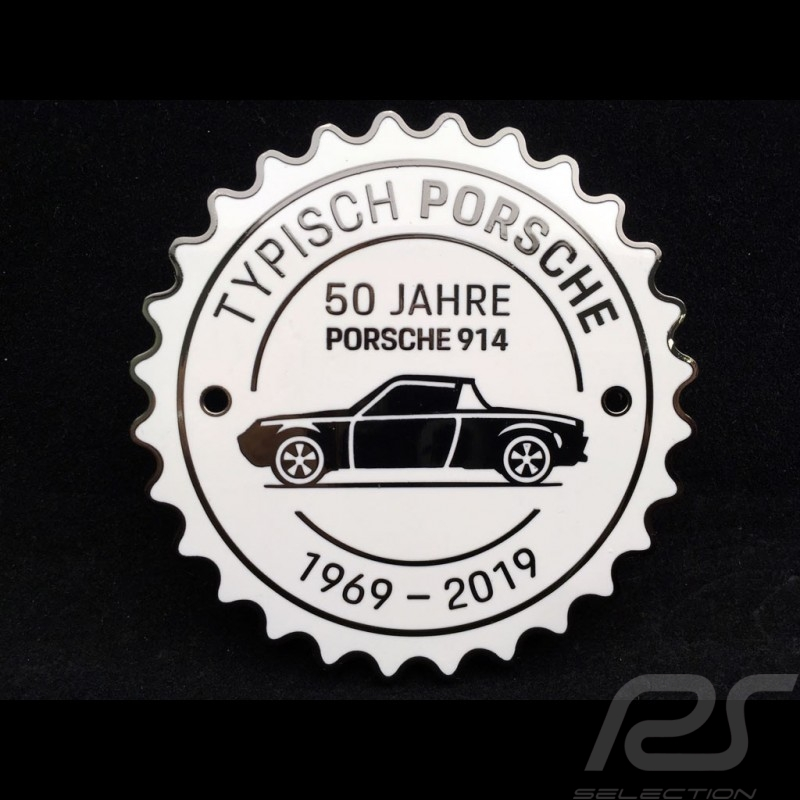 Grille badge Porsche 914 50 years 1969 - 2019 White Porsche Design MAP04515619