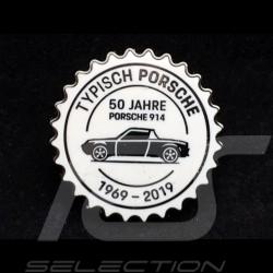 Pin Badge Button Porsche 914 50 ans years Jahre 1969 - 2019 Blanc Porsche Design MAP01008219
