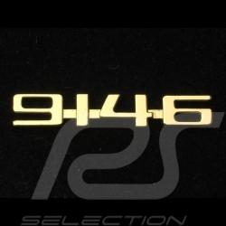 Pin Badge Button Porsche 914-6 vintage doré golden Porsche Design MAP01008119
