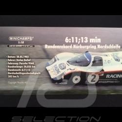 Porsche 956 K n° 2 World record lap 1000km Nürburgring 1983 1/18 Minichamps 153836702