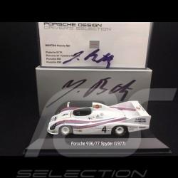Porsche 936 /77 Spyder n° 4 Winner Le Mans 1977 Jürgen Barth signature 1/43 Minichamps WAP020SET13
