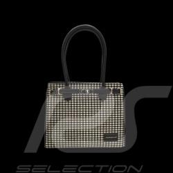 Sac à main Handbag handtasche Porsche 911 Classic pied de poule Pepita / cuir noir