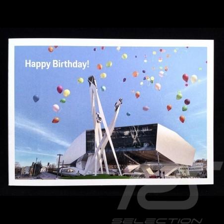 Carte d'Anniversaire birthday card jubilaumkarte Porsche Museum avec enveloppe Porsche Design MAP01501019