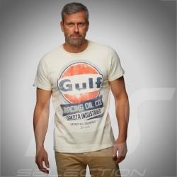 T-Shirt Herren Gulf Oil Racing beige kreme