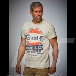 Men's T-shirt Gulf Oil Racing beige cream