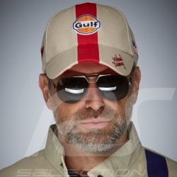 Cap Gulf Steve McQueen Le Mans beige