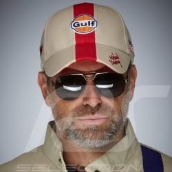 Casquette Gulf Steve McQueen Le Mans beige