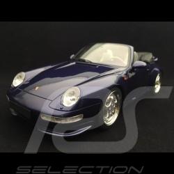 Porsche 911 type 993 Turbo 3.6 cabriolet 1995 iris blue 1/18 GT Spirit GT257