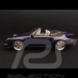 Porsche 911 type 993 Turbo 3.6 cabriolet 1995 bleu iris 1/18 GT Spirit GT257