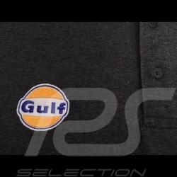 Gulf Racing Polo Shirt Derek Bell signature Mottled grey - men
