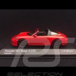 Porsche 911 Targa 4 GTS type 991 phase II 2016 1/43 Minichamps 410067340 rouge indien guards red indischrot