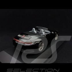 Porsche 911 type 992 Carrera 4 Cabriolet 2019 black 1/43 Minichamps WAP0201770K