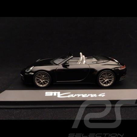 Porsche 911 type 992 Carrera 4 Cabriolet 2019 1/43 Minichamps WAP0201770K noir black schwarz