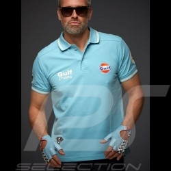 Gulf Le Mans victory Vintage Polo Sky blue - men