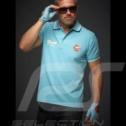 Polo Gulf victoire Le Mans Vintage - homme men herren bleu ciel sky blue hellblau
