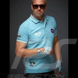 Gulf Le Mans Sieg Vintage Polo hellblau - Herren