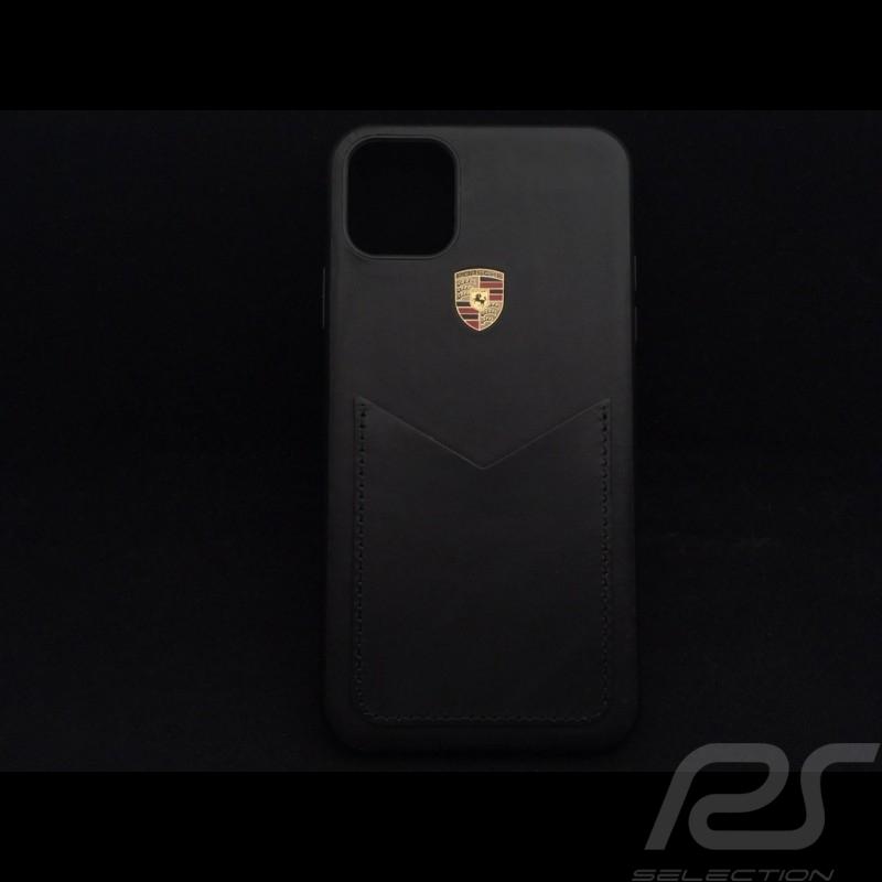 Porsche Hülle für iPhone 11 Pro Max schwarzes Leder Porsche Design WAP0300060L002