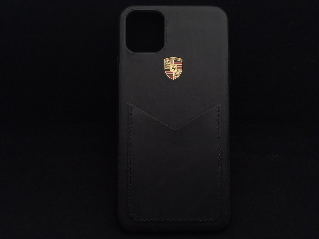 Porsche Hard Case For Iphone 11 Pro Max Black Leather Wap0300060l002 Selection Rs