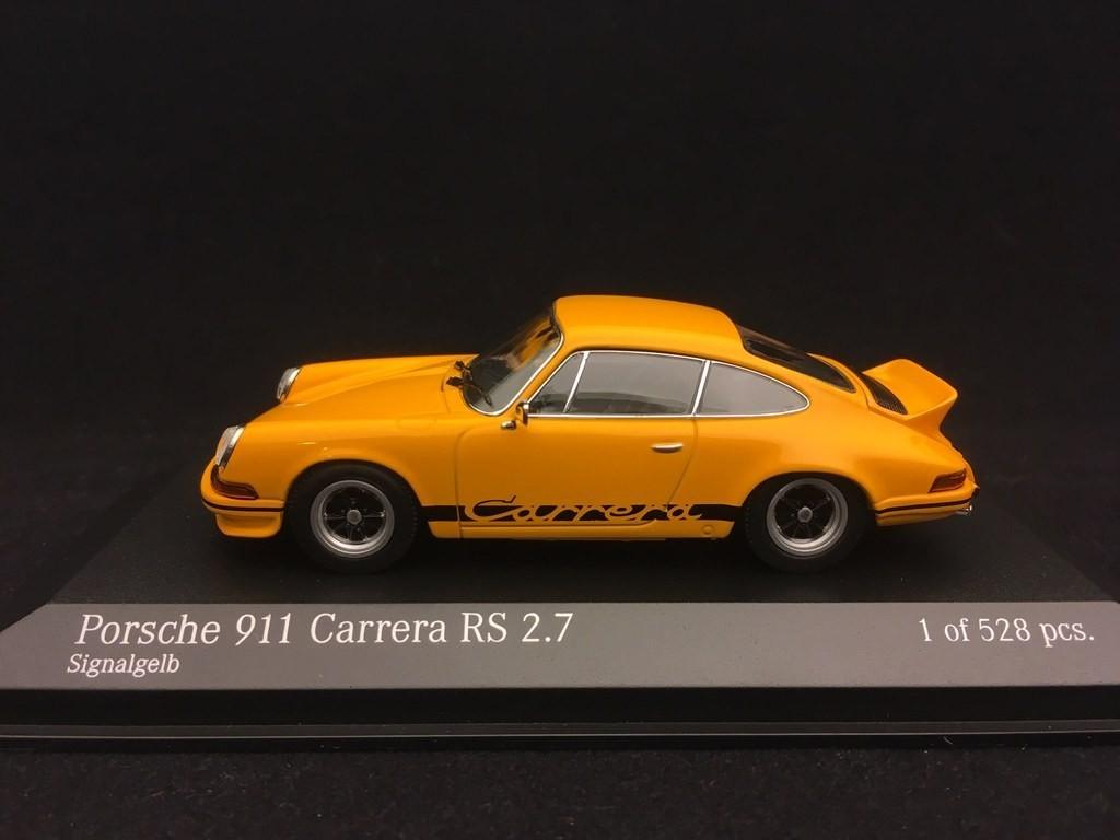 Porsche 911 Carrera Rs 2 7 1972 Yellow 1 43 Minichamps 400065522 Selection Rs