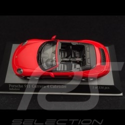 Porsche 911 type 991 Carrera 4 Cabriolet 2016 guards red 1/43 Minichamps 410067230