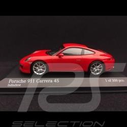 Porsche 911 type 991 Carrera 4S 2016 rouge Indien 1/43 Minichamps 410067240
