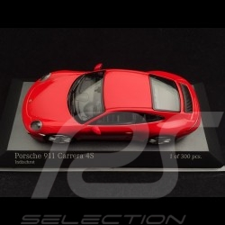 Porsche 911 type 991 Carrera 4S 2016 guards red 1/43 Minichamps 410067240