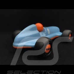 Vintage wooden racing car for children Gulf blue Schuco 450987200