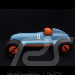 Vintage wooden racing car for children Gulf blue Schuco 450987200
