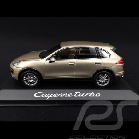 Porsche Cayenne Turbo type 958 2015 1/43 Minichamps WAP0200050E beige palladium métallisé metallic